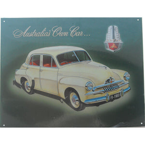 1953 FJ Holden Tin Sign (31.7cm x 40.5cm)