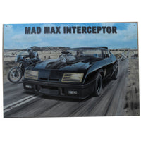 Mad Max Interceptor (Ford XB Falcon Hardtop) Tin Sign (50x35cm)