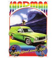 HJ Sandman 1975 Holden Tin Sign (50cm x 35cm)