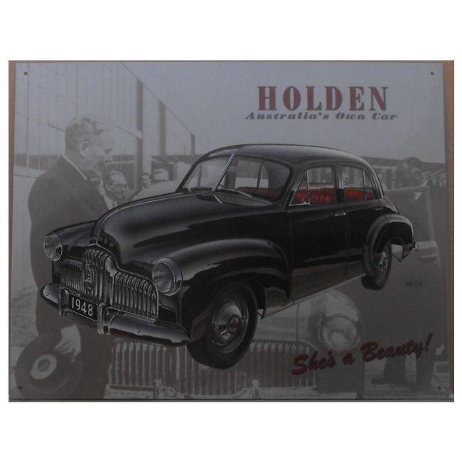 1948 FX Holden Tin Sign (31.7cm x 40.5cm)