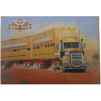 Road Train Trucker Tin Sign (50cm x 35cm)