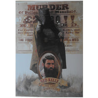 Ned Kelly Iconic Bushranger Tin Sign (35cm x 50cm)