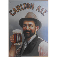 Carlton Ale Tin Beer Sign (28.5cm x 40.5cm)