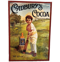 Cadbury Cocoa Cricketer Tin Sign (28.5cm x 40.5cm)