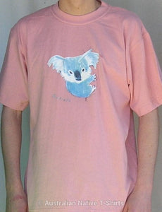 Arty Koala Adults T-Shirt (Dusty Pink)