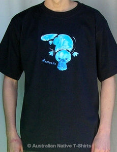Arty Platypus Adults T-Shirt (Black)