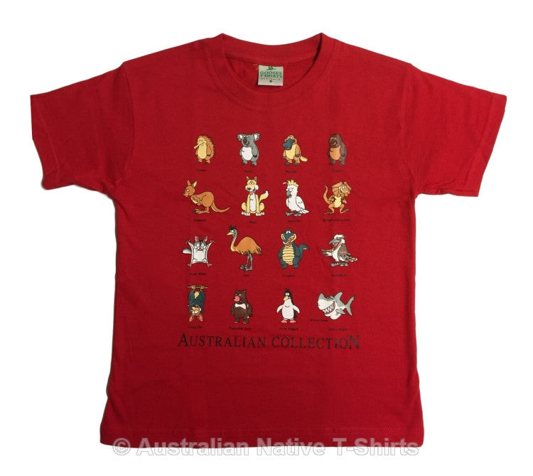 Australian Animal Collection Childrens T-Shirt