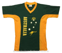 AUST Stars & Crest Childrens T-Shirt (Green)