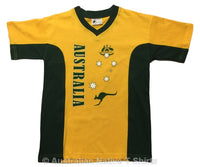 AUST Stars & Crest Childrens T-Shirt (Yellow)