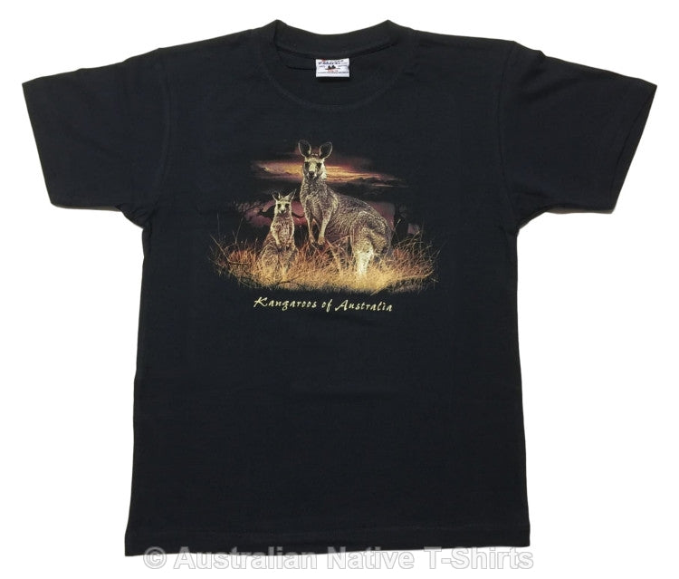 Kangaroos of Australia Childrens T-Shirt