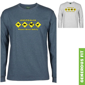 Australian Animal Road Signs Longsleeve T-Shirt (Various Colours)