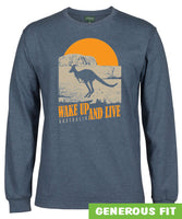 Australia Wake up & Live Longsleeve T-Shirt (Denim Marle)