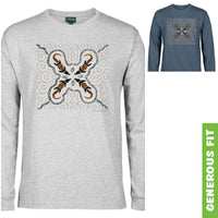 Crocodile Hunt Longsleeve T-Shirt by Shannon Shaw (Various Colours)