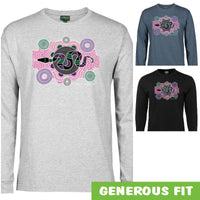 Serpent Longsleeve T-Shirt by Meleisa Cox (Various Colours)
