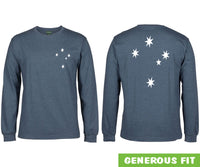 Southern Cross Longsleeve T-Shirt (Double Sided, Denim Marle)