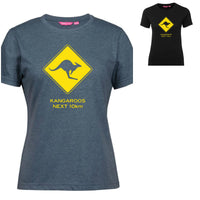 Kangaroos Next 10km Road Sign Ladies T-Shirt (Various Colours)