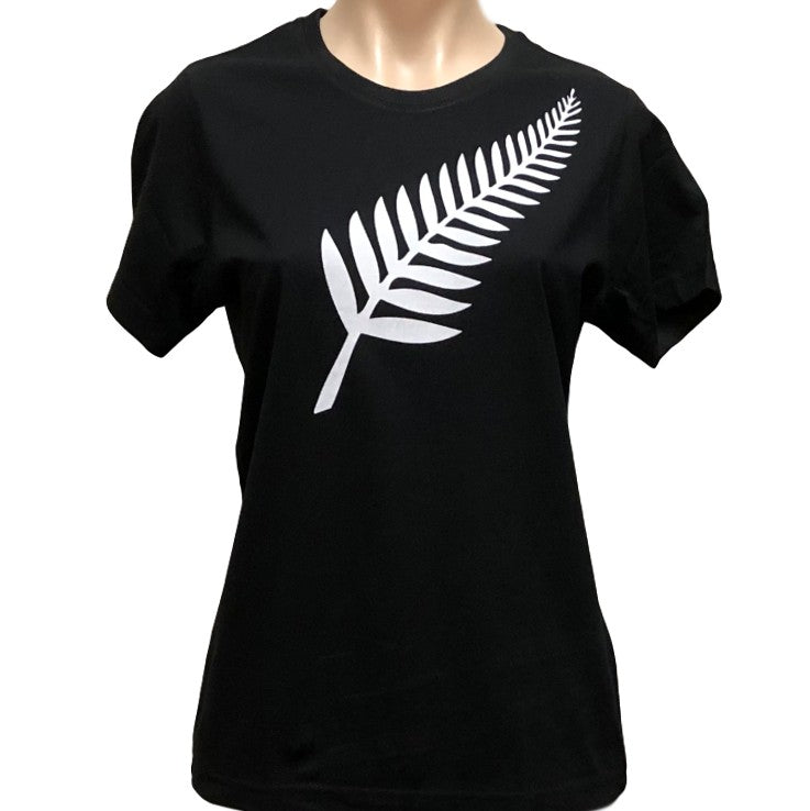 Silver Fern Ladies T-Shirt (Black)