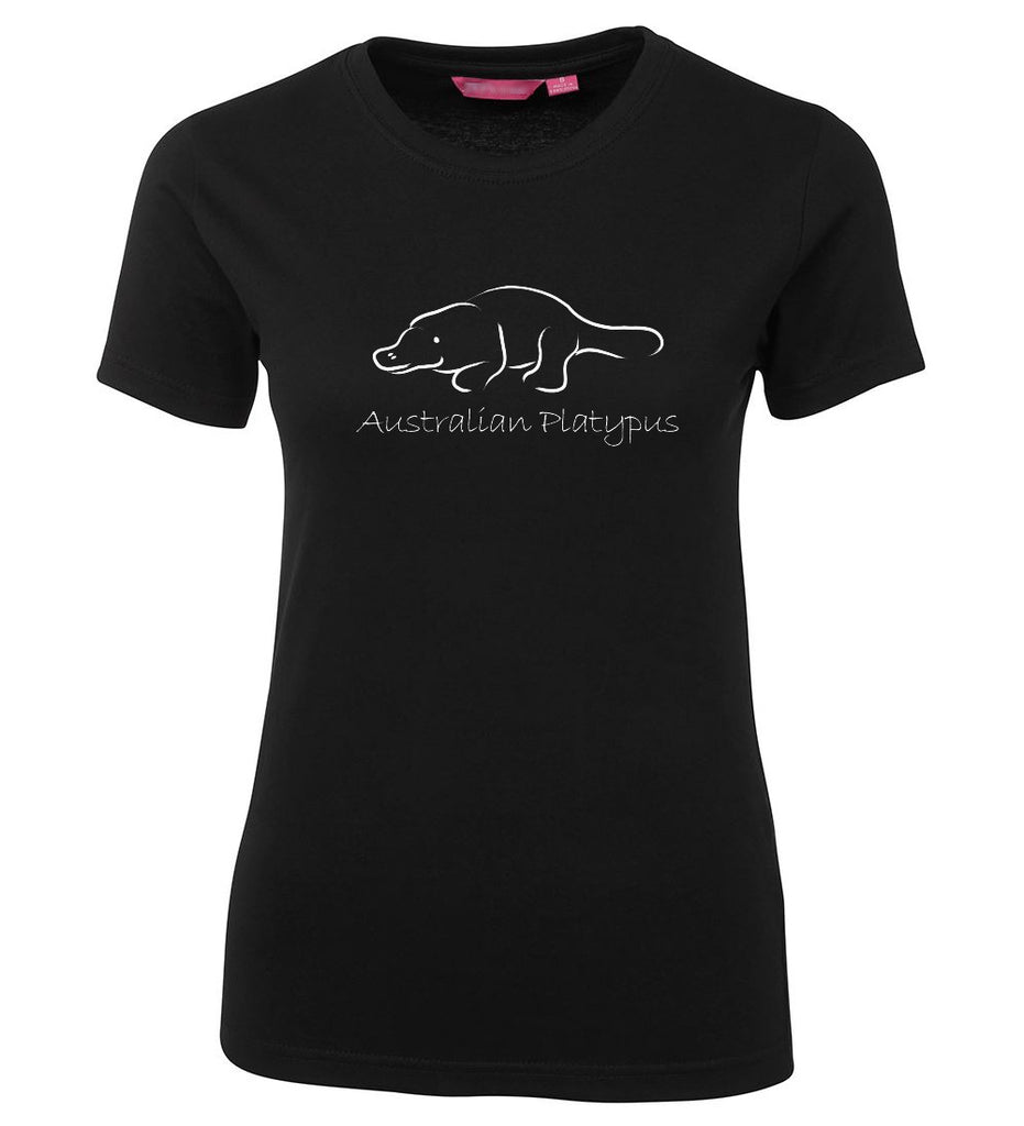 Australian Platypus Ladies T-Shirt (Black)