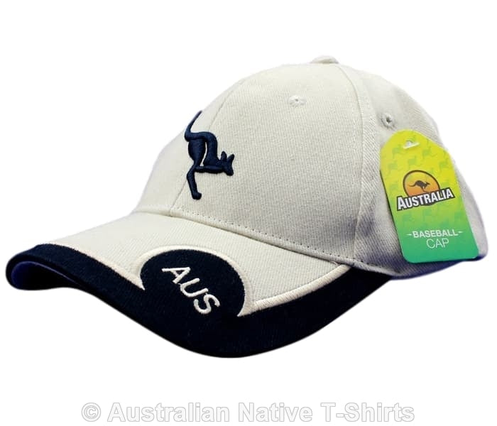 Australia Flying Roo Baseball Cap (Navy & Stone)