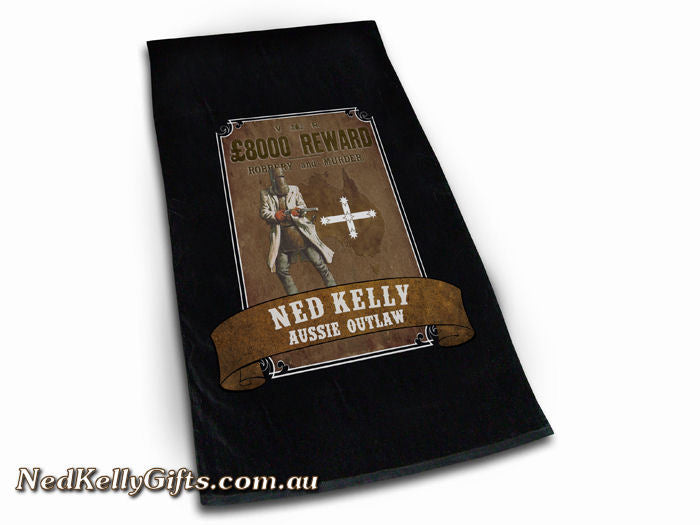 Ned Kelly Aussie Outlaw Beach Towel