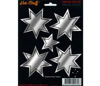 Southern Cross Chrome Car Sticker