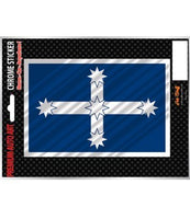 Eureka Flag Chrome Sticker