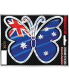 Australian Flag Butterfly Chrome Sticker