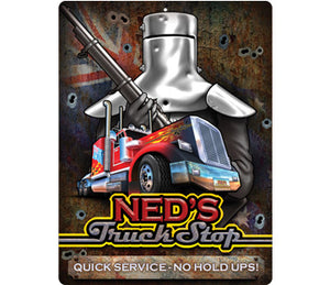 Ned's Truck Stop Large Vinyl Sticker