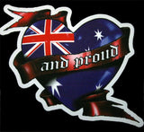 Aussie & Proud Vinyl Australian Flag Sticker