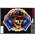 Cowboy Skull Aussie Vinyl Sticker - Hot Stuff Merchandise