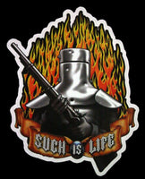 Ned Kelly Such is Life (Flames) Vinyl Sticker