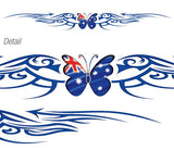 Aussie Tribal Butterfly Large Windscreen Sticker
