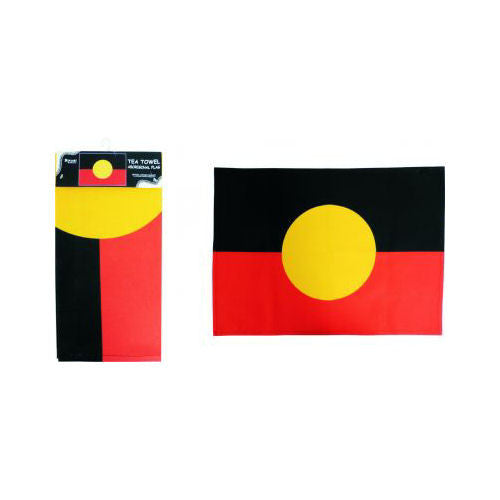 Aboriginal Flag Tea Towel (70cm x 50cm)