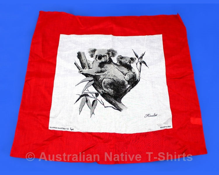 Koala Design Red Cotton Scarf (60cm)