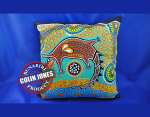 Crocodile Dream Aboriginal Cushion Cover