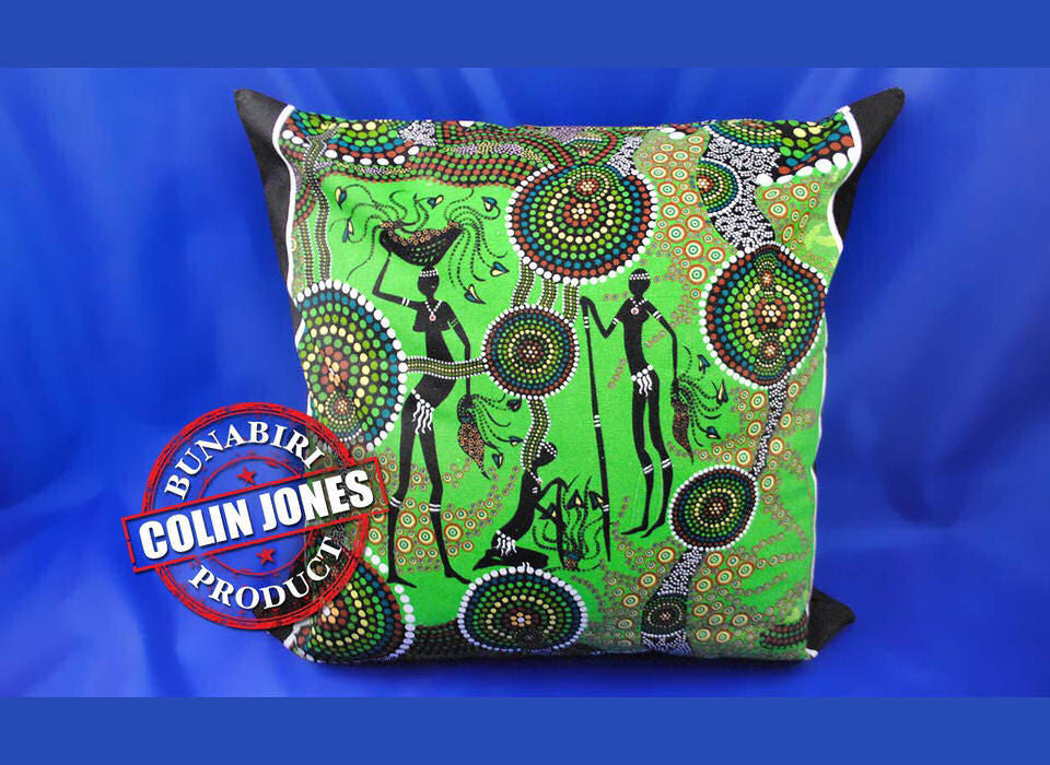 Hunter & Gatherer Rainforest Aboriginal Cushion Cover