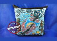 Dolphin Aboriginal Cushion Cover