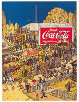 Coca Cola Circus Advertising Poster