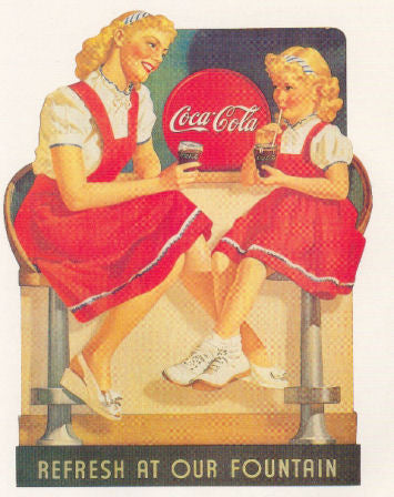 Coca Cola Soda Fountain Advertising Poster