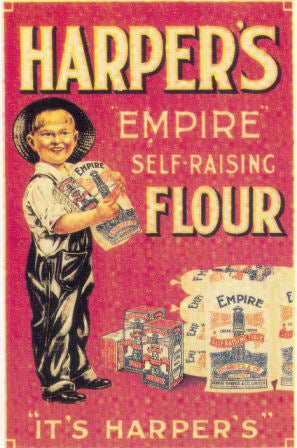 Harper S Flour Advertising Poster Vintage Style