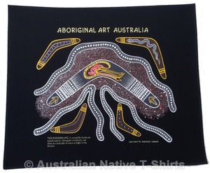 Aboriginal Boomerang Wallhanging (Black)
