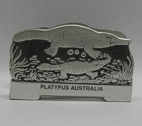 Platypus Pewter Business Card Holder