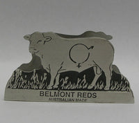 Belmont Red Pewter Business Card Holder