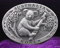 Koala Australia Pewter Belt Buckle (Large)