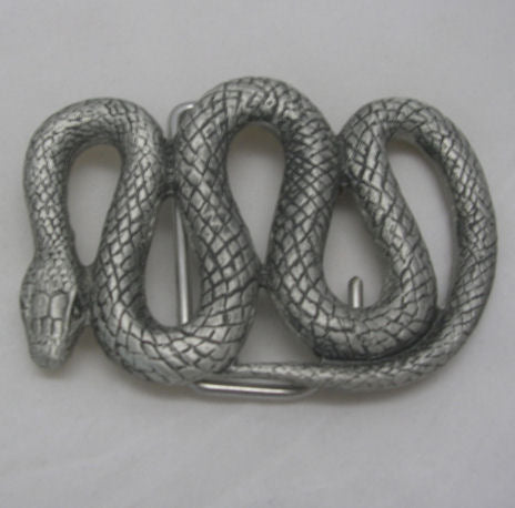 Australian Snake Pewter Belt Buckle (Large)