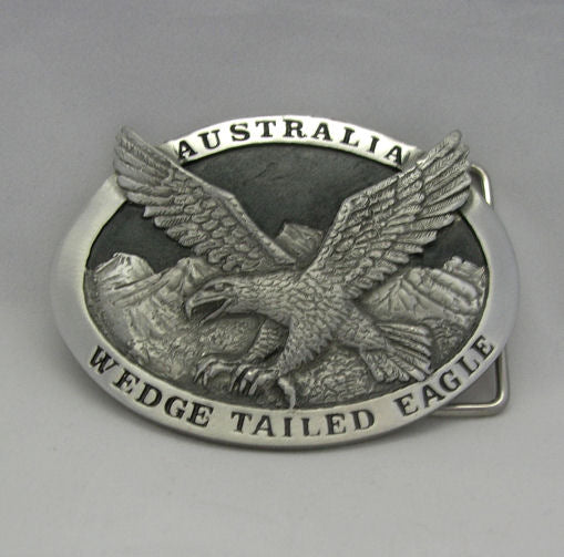 Wedge Tailed Eagle Pewter Belt Buckle