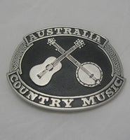 Country Music Australia Pewter Belt Buckle