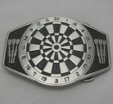 Dartboard Logo Pewter Belt Buckle (Large)
