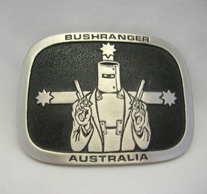Australian Bushranger Ned Kelly Pewter Belt Buckle