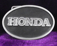 Honda Motorcycle Logo Pewter Belt Buckle